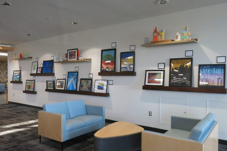 Art Wall at Ridgedale Library
